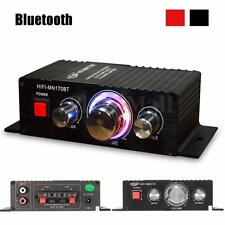 Car Mini Stereo HI-FI Bluetooth Power Amplifier audio Headphone AMP Bass 15W*2