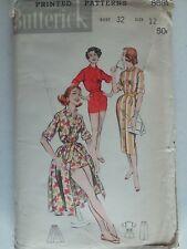 Vintage 1958 ~Playsuit~2 Skirts~Uncut~Butterick Sewing Pattern~Women Sz 12