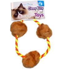 NORTH AMERICAN PET CLASSY KITTY CAT FURRY BALL LOOP TOY. FREE SHIP TO THE USA