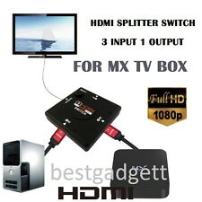 HDMI 3 Port Switch Selector Switcher Splitter Hub Box 1080p for PS3 HDTV LCD LED