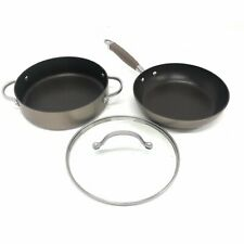 Anolon Advanced Hard Anodized Nonstick 3 Piece Cookware Set, Bronze