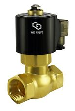 """1/2"""" Inch Brass Hot Water Steam High Pressure Electric Solenoid Valve NC 24V AC"""