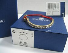 Swarovski Toby Red Bracelet, Gold-Plated Crystal Butterflies MIB - 1181462
