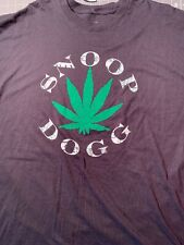 SNOOP DOGG Black 2XL Men's short sleeve T shirt GRAPHICS Weed Leaf