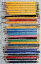 27 Used Vintage Pencils: Dixon, Eagle, Empire, Wallace, General, A.W. Faber