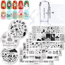 3pcs/kit Nail Art Uñas Stamping Placas Silicone Estampador ador Set Manicura