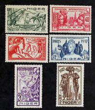 Timbre NIGER Stamp (Colonie) Yvert et Tellier n°57 à 62 n* (Col3)