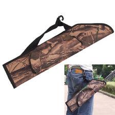 Archery Back Arrow Quiver Hunting Traditional Recurve Bow Bag Case Holder Set