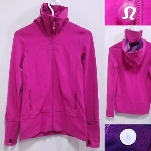 Lululemon IN STRIDE Pink Zipper Sweater Size 6 Small Yoga Jacket