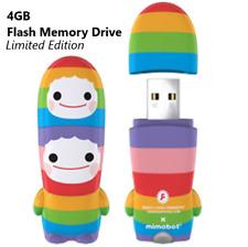 NEW Mimobot Buddy Chub 4GB USB MEMORY FLASH DRIVE Rainbow Unicorn PC & Mac Stick