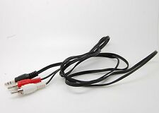 3.5mm To 2 RCA Audio Y Adapter Cable/Cord/Lead For Sirius XM Radio Stratus 2 3