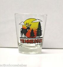 SHOT GLASS TENNESSEE  (DEER IN SUNSET WITH GREEN TREES)