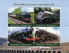 Madagascar 2018 MNH Steam Engines Locomotives 4v M/S Trains Railways Rail Stamps