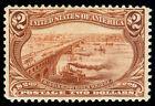 momen: US Stamps #293 $2 TRANS-MISS MINT OG VVLH VF+