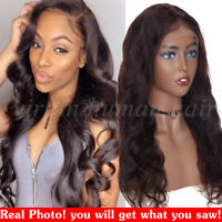 Dark Brown Lace Front Wig Peruvian Remy Human Hair Full Wigs 18/20/22/24Inch V11
