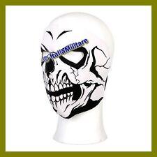 Maschera in Neoprene Facciale Teschio Completa per SoftAir Elmetto Moto Casco