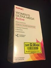 GNC Women's Ultra Mega Active Multivitamin - 180 Caplets **FREE SHIPPING!!