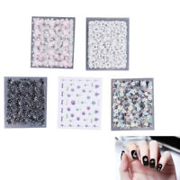 10Pcs nail art transfer stickers 3D design manicure tips decal_ws