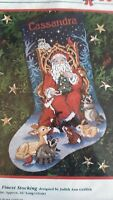 Santa's Finest counted cross stitch stocking kit 1997 Dimensions SEALED