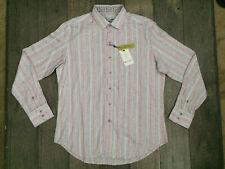 Robert Graham Classic Fit L/S Shirt Mens Size XL Striped Flip Cuff NWT $198.00