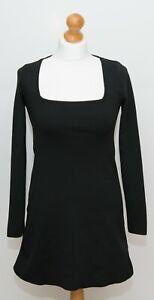 Zara Black Knitted Mini Dress Size S BNWT