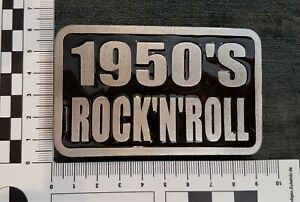 A Hand Cast Pewter 1950's Rock 'n' Roll Belt Buckle by Ultimate, 1999. P Bruce