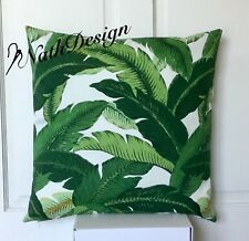 Genuine Tommy Bahama Indoor/outdoor Green-white 45cm Palm Leaf Cushion Cover