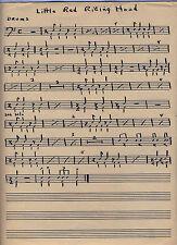 Big Bopper Original Sheet Music Handwritten COA from Son Riding Hood Chantilly