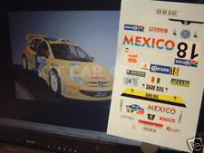 DECAL CALCA 1/18 PEUGEOT 206 WRC R. TRIVIÑO RALLY MEXICO 2005