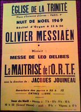 Olivier MESSIAEN (Composer): Original 1969 Organ Recital Poster