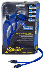 Stinger Pro 6000 Series Audiophile 3' 2 Channel RCA Interconnects Cable SI623