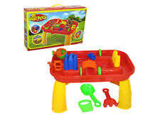 Sand and and Water Play Table With Accessories. Outdoor Play. Children. Kids.