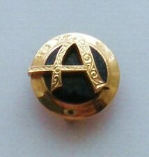 """Balfour 10K Gold Onyx Alpha Letter """"A"""" A Sorority Fraternity Badge Pin 3.5 grams"""
