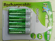 4 Pile Accus Ni-MH Rechargeables HQ LR06 AA 2600 mAh