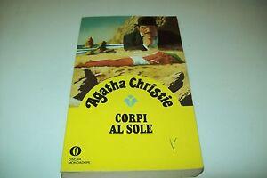 AGATHA CHRISTIE CORPI AL SOLE OSCAR GIALLI MONDADORI 15 1987 CON POIROT BUONSSMO
