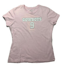 REEBOK DALLAS COWBOYS Top SZ M Womens Pink 100% Cotton Romo #9 Short Sleeve