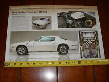 1973 PONTIAC TRANS AM SD 455 ORIGINAL 2014 ARTICLE