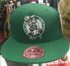 """Boston Celtics Fitted Hat Size 7 1/4"""" by Mitchell and Ness"""