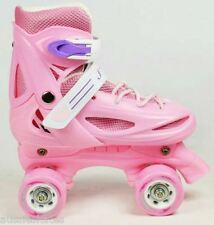 Girls, Kids, Adjustable Quad Roller Skates EU Size 35-38 PINK!