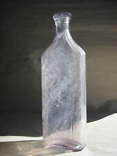 VTG Standard Glass Co.Blue Ribbon Cork Top turning purple Apothecary Rx Pharmacy