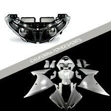 Unpainted Fairing Set Kit + Headlight For Yamaha 2012 2013 2014 YZF R1 R1000