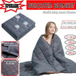 2.3/5/7/9 KG Cotton Bedding Weighted Blanket Heavy Gravity Deep Relax Sleeping