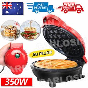 Mini Waffle Maker Non Stick Baking Pan Pancake Heating Breakfast Making Machine