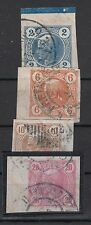 Österreich Nr. 101-104 mit Rand,  gestempelt