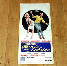 LE BELLISSIME GAMBE DI SABRINA locandina poster Mamie Van Doren Festa Ballo N13