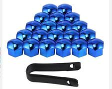 21mm BLUE CHROME Wheel Nut Covers with removal tool fits MAZDA MX5