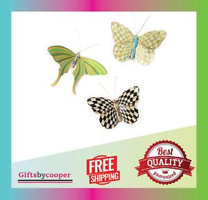 MacKenzie-Childs Meadow Butterflies Trio, Hanging Butterfly Wall Decor  Set of 3