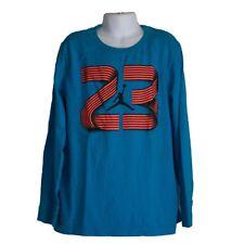 Youth Boys Jordan Jumpman Logo #23 Blue Long Sleeve Shirt Size M Medium