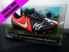 ✺Signed✺ MICHAEL BEAUCHAMP & TONY POPOVIC Boots PROOF COA Wanderers 2018 Jersey
