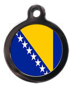 Pet ID tag Bosnian Flag Picture design